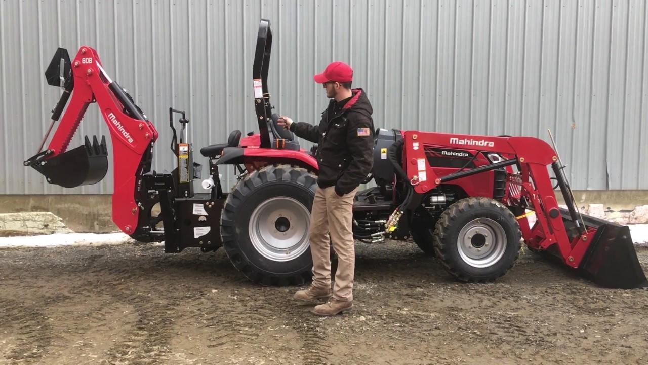 All New Mahindra 2638 HST Tractor w/ Loader & 60B Backhoe - Walkthru