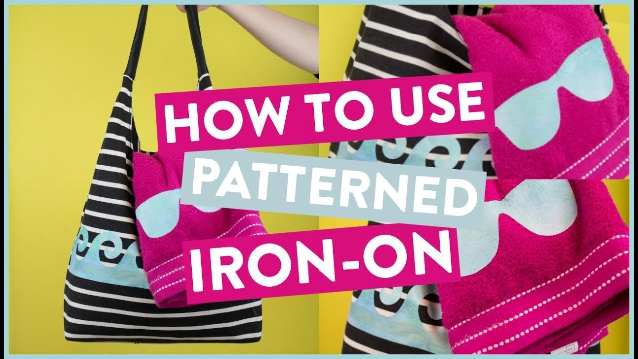 How To Use Cricut Patterned Iron On   Beach Bag + Towel