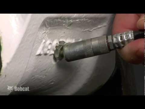 Grease Your Bobcat Loader - YouTube