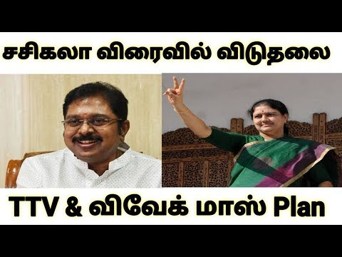 சசிகலா  விரைவில் விடுதலை TTV  & விவேக் மாஸ் Plan | TTV Dinakaran | Vivek | Sasikala | AMMK
