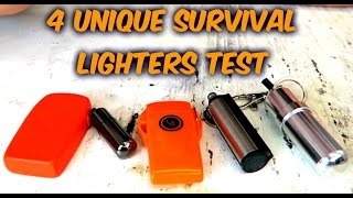 4 Unique Survival Lighters Test
