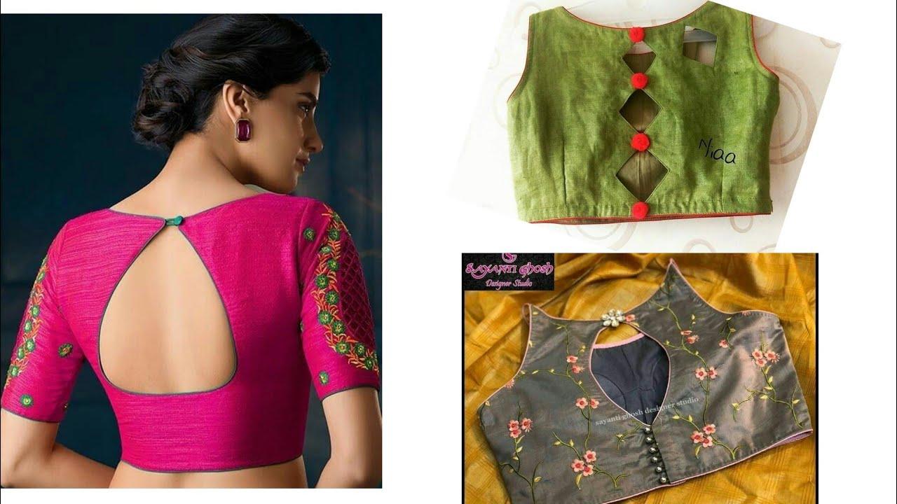 Latest Back Neck Design 2019 Model Look Blouse Back Neck Stylish Blouse Back Neck Design