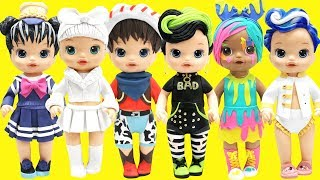 Play Doh L.O.L Surprise Bhaddie, Do Si Dude, Sailor QT, Captain BB, Makeover Babe, Splatters