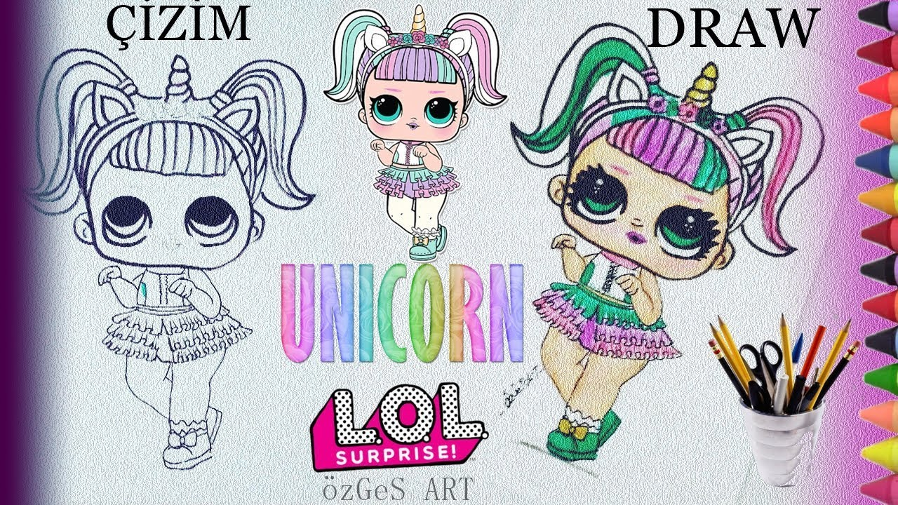Unicorn Lol Bebek çizimi Lol Surprise Unicorn How To Draw