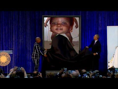 Obama Unveils Controversial Portrait [YTP]