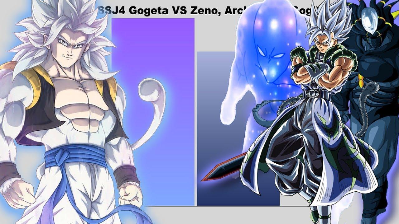 MUI SSJ4 Gogeta VS Zeno, Archon and Gogito - Power Levels