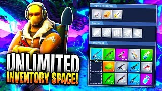 CARRY UNLIMITED ITEMS GLITCH IN FORTNITE! - NEW *WORKING* Inventory GLITCH! (Fortnite Battle Royale)