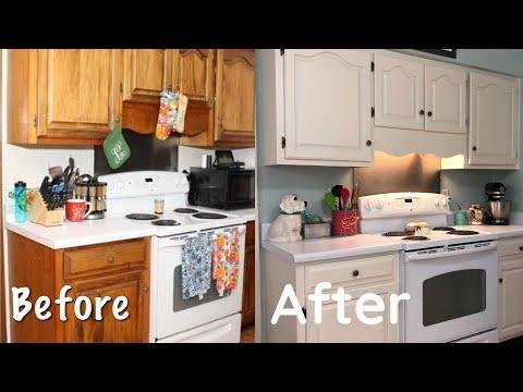 $50 Farmhouse Kitchen Makeover Farmhouse Decor #diy #homeimprovement