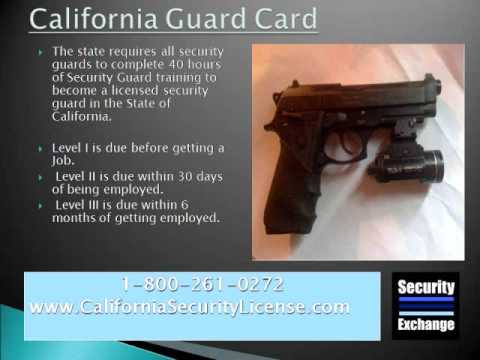 california guard card youtube. Black Bedroom Furniture Sets. Home Design Ideas