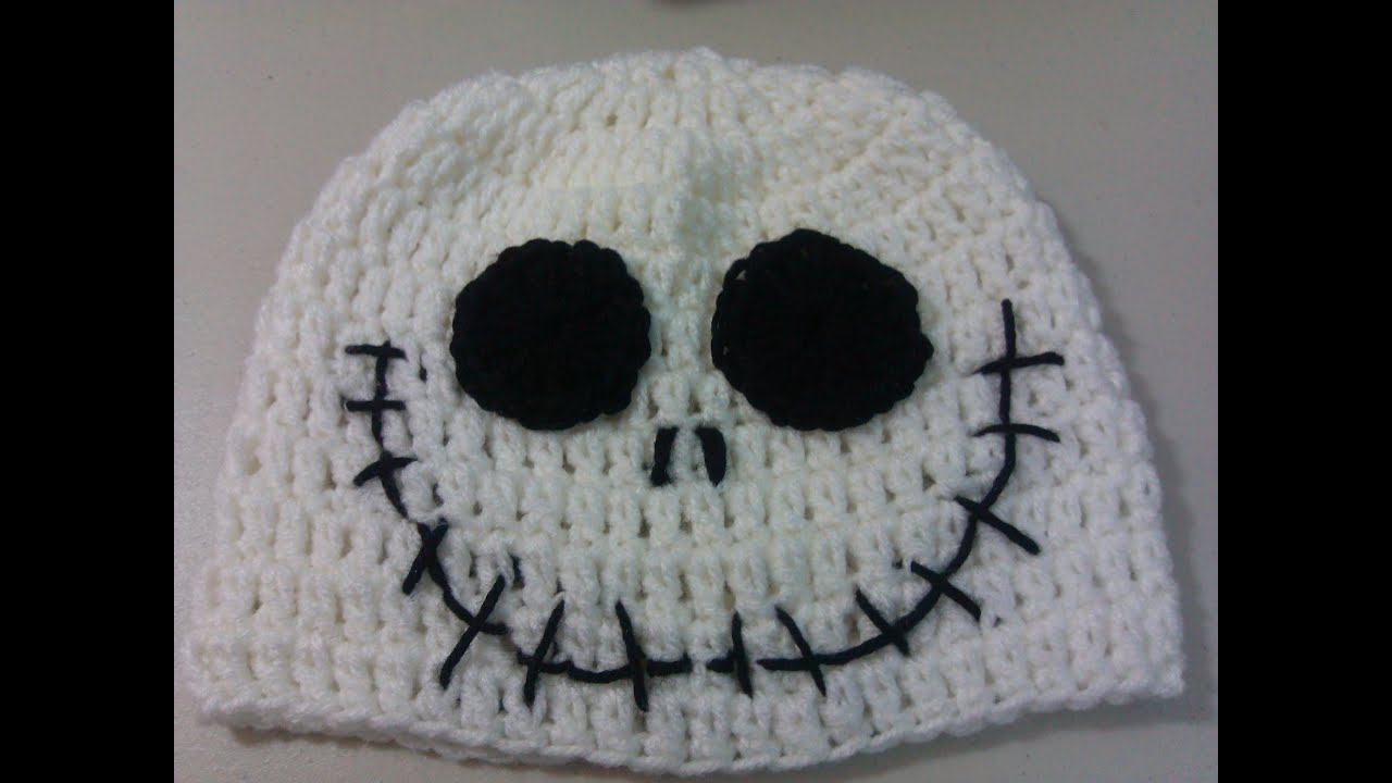 Crochet Jack Skellington : Crochet Halloween Jack Skellington hat - YouTube