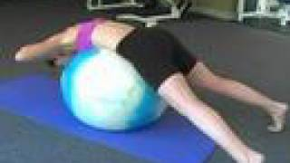 Abs & Upper Body Workout on Fitness Ball, Training w/ Tammy