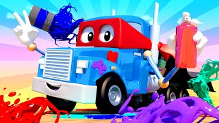 The Graffiti Truck - Carl the Super Truck - Car City ! Cars and Trucks Cartoon for kids