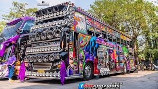เป๊ก เกาะเรียนไชย นี่มันรถบัสหรือผับ พาชมภายนอก/ภายใน ไฟเธคเต็มคัน Amazing BusThai