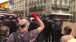 Le 26 mai, des manifestations contre la politique de Macron se poursuivent en France