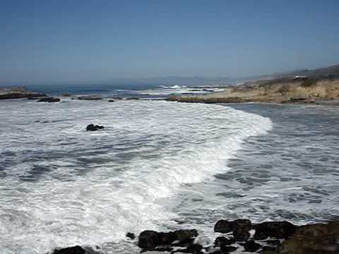 The Pacific crashing into Pescadero, CA