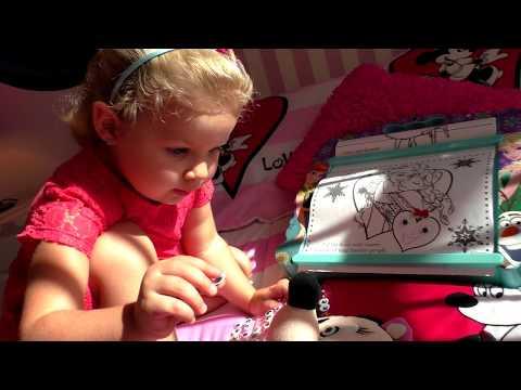 ВОЛШЕБНАЯ РАСКРАСКА Frozen и Минни Маус Лунатик Супер набор для Девочек от Дисней Видео для Детей