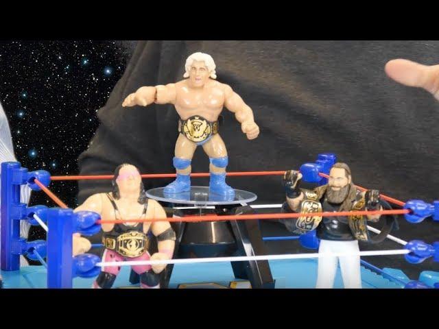 WWE Wrestling 4 Pack Set of 12 2018 SDCC MUSCLE WWF Mattel Super 7 M.U.S.C.L.E