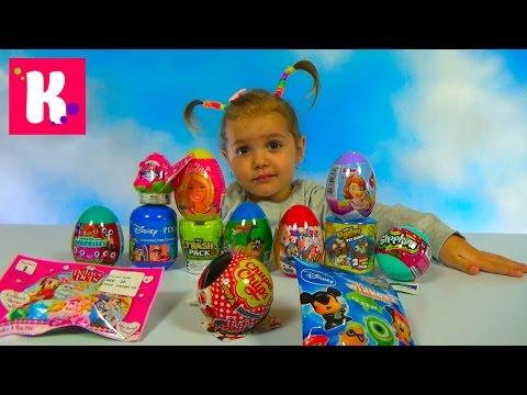 Игрушки сюрпризы в яйцах и пакетиках Барби Герои из Дисней unboxing surprise toys & blind bags