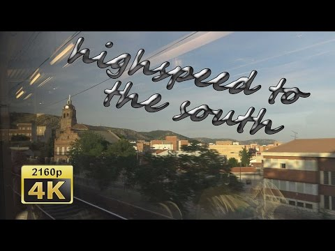 With High Speed Train AVE From Madrid To Seville - Spain 4K Travel Channel