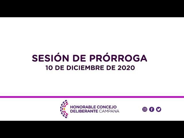 Sesión de prórroga, 10 de Diciembre de 2020.