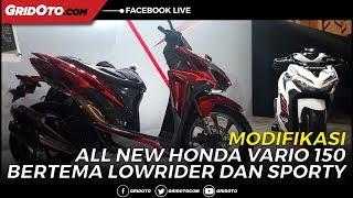 Modifikasi All New Honda Vario 150 Konsep Lowrider dan Sporty
