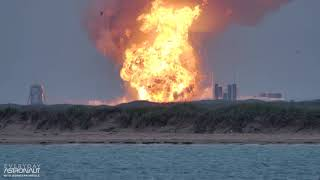 Slo Mo 4k Massive Explosion Of A Spacex Starship Prototype Sn4 At Boca Chica Texas