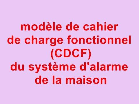 Modle De Cahier De Charge Fonctionnel Cdcf Du Systme DAlarme De