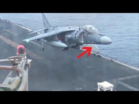 AV-8B Harrier Emergency Landing Without Nose Gear