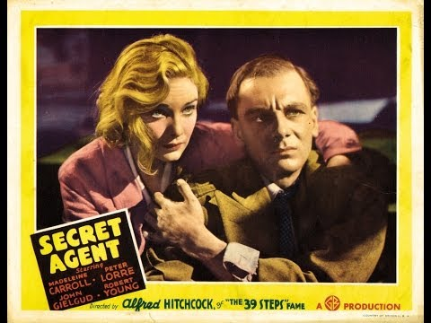 Alfred Hitchcock - Secret Agent - Best old movie