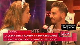 La reacción de Nazarena Vélez al escuchar la nota de Fede Bal