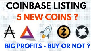 CoinBase listing new coins | What expected ?