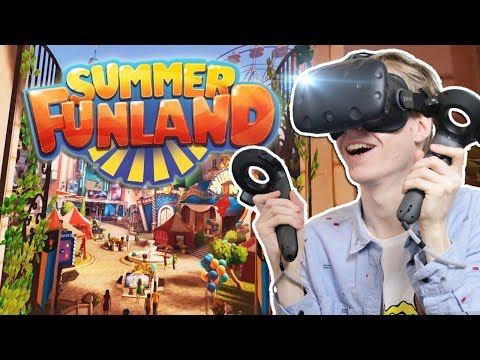 VIRTUAL REALITY THEME PARK!! | Summer Funland VR (HTC Vive Gameplay)