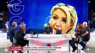 Marine Le Pen a proposé à Eric Zemmour d'être candidat aux européennes  - Les Grandes Gueules de RMC