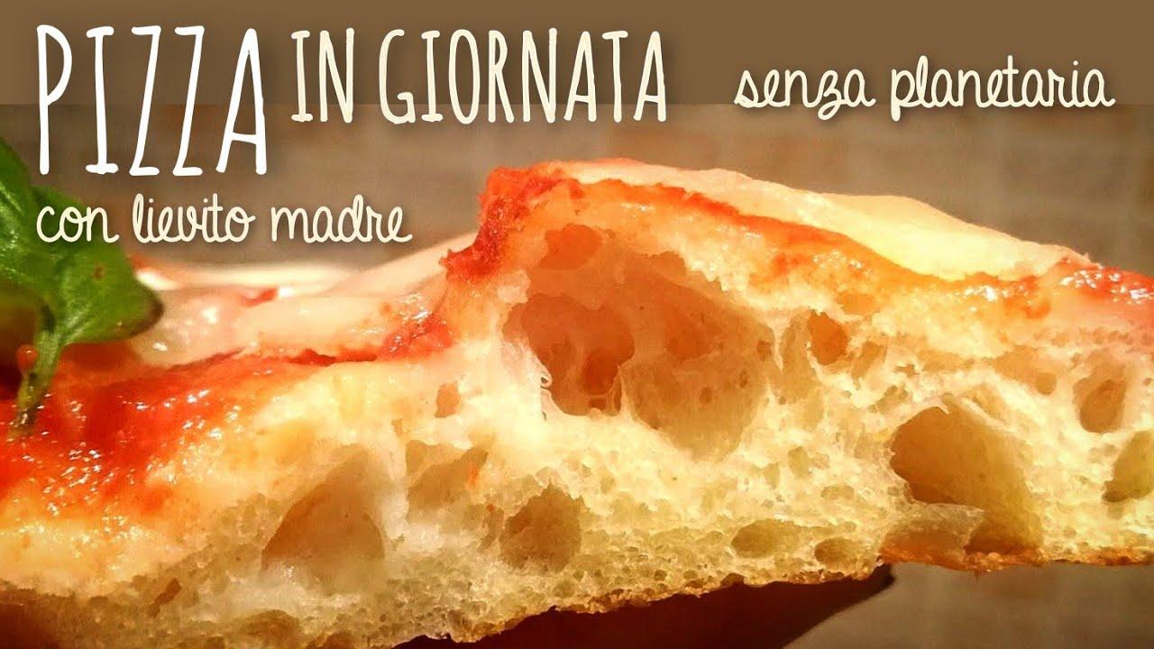 Ricette Lievito Madre Bonci.Pizza Leggera Con Lievito Madre Metodo Bonci 48 Ore Di Lievitazione Youtube