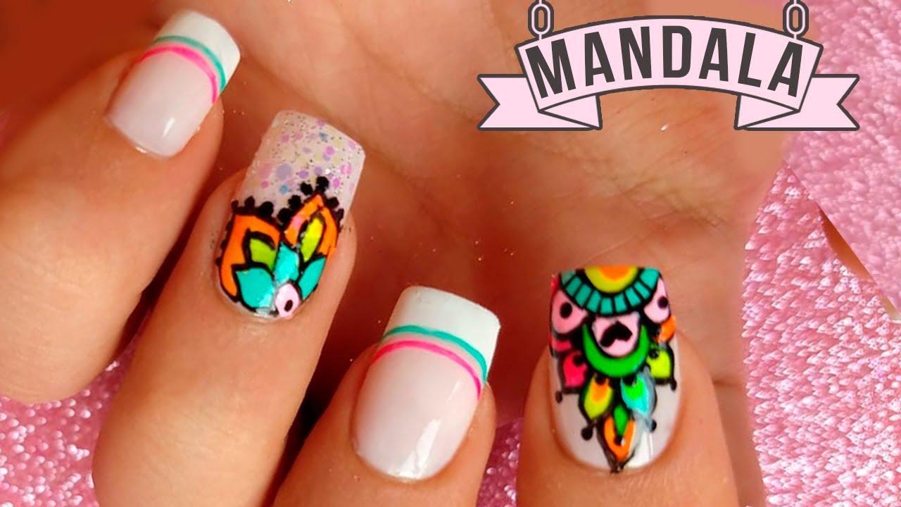 Uñas Decoradas Con Mandalas Mandala Nail Art