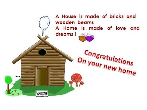 Housewarming Messages Congratulations messages for new home - YouTube