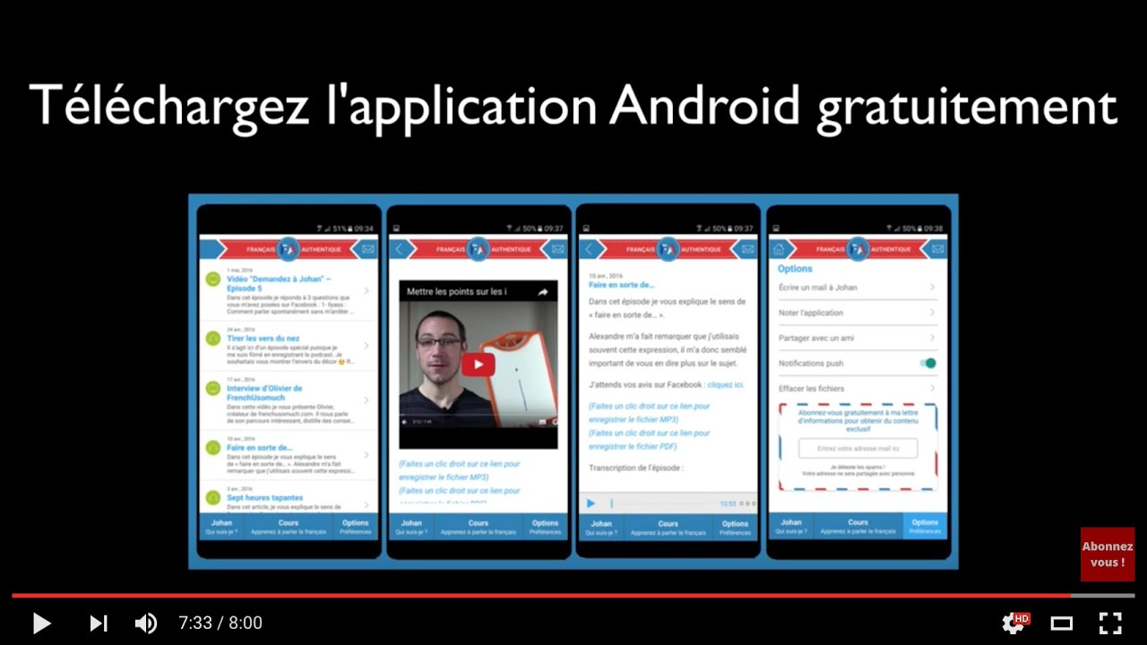 application android en francais