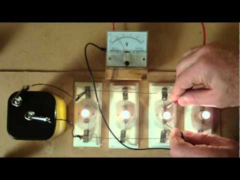 110 Cord Wiring Diagram Connecting Light Bulbs In Parallel Youtube