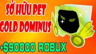 Roblox🐷Pet Simulator | Mua Pet Dominus Và Nâng Cấp Thành Gold Dominus | MinhMaMa