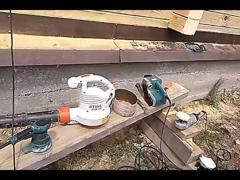 Шлифовка профилированного бруса!Инструменты и нюансы.