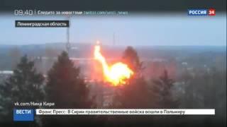 Пожар в Гатчине  газопровод повредился из за провала грунта