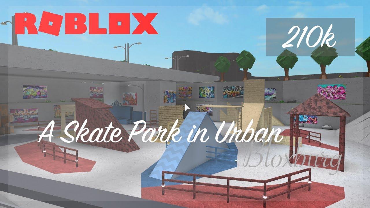 Skate Park Under The Bridge Tour On Bloxburg Roblox Youtube