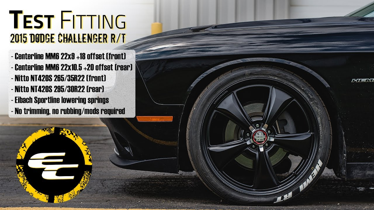 Test Fitting Lowered 2015 Dodge Challenger R T W 22