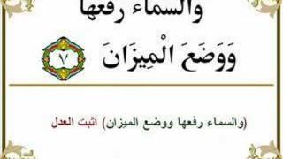 the Holy Quran : scheikh abd albaset جزء سوة القمر والرحمن