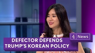 Defector supports Trump policy in North Korea