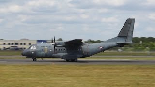 Airtech CN-235-200M France Air Force departure at Farnborough Airshow 2014 62-IP