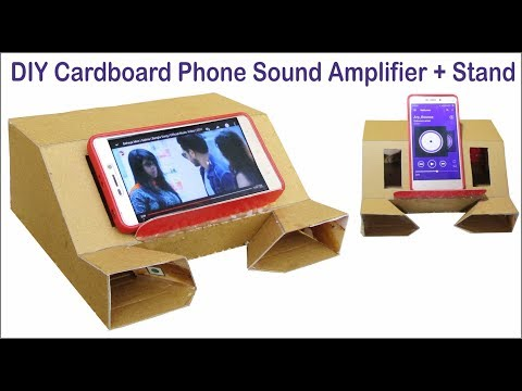 DIY Sound Amplifier For Phone - How To Make Cardboard Sound Box