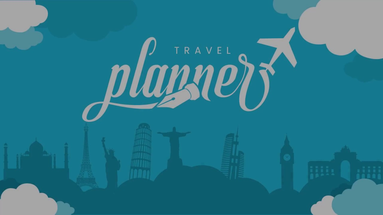 travel - planner powerpoint template - youtube, Powerpoint templates