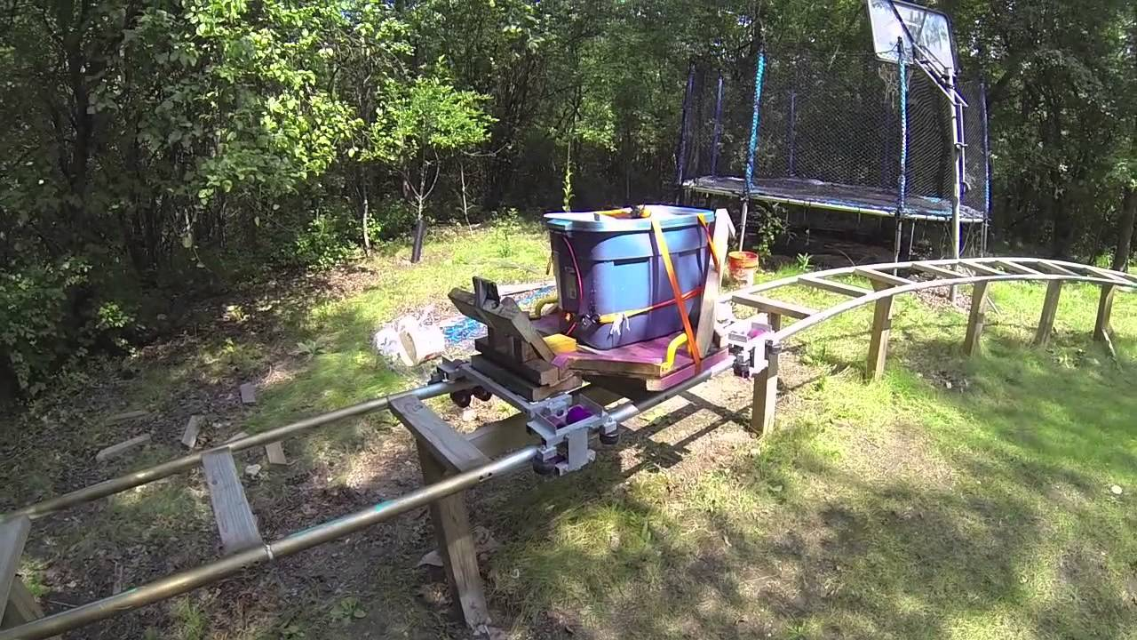 final weight testing backyard pvc roller coaster youtube