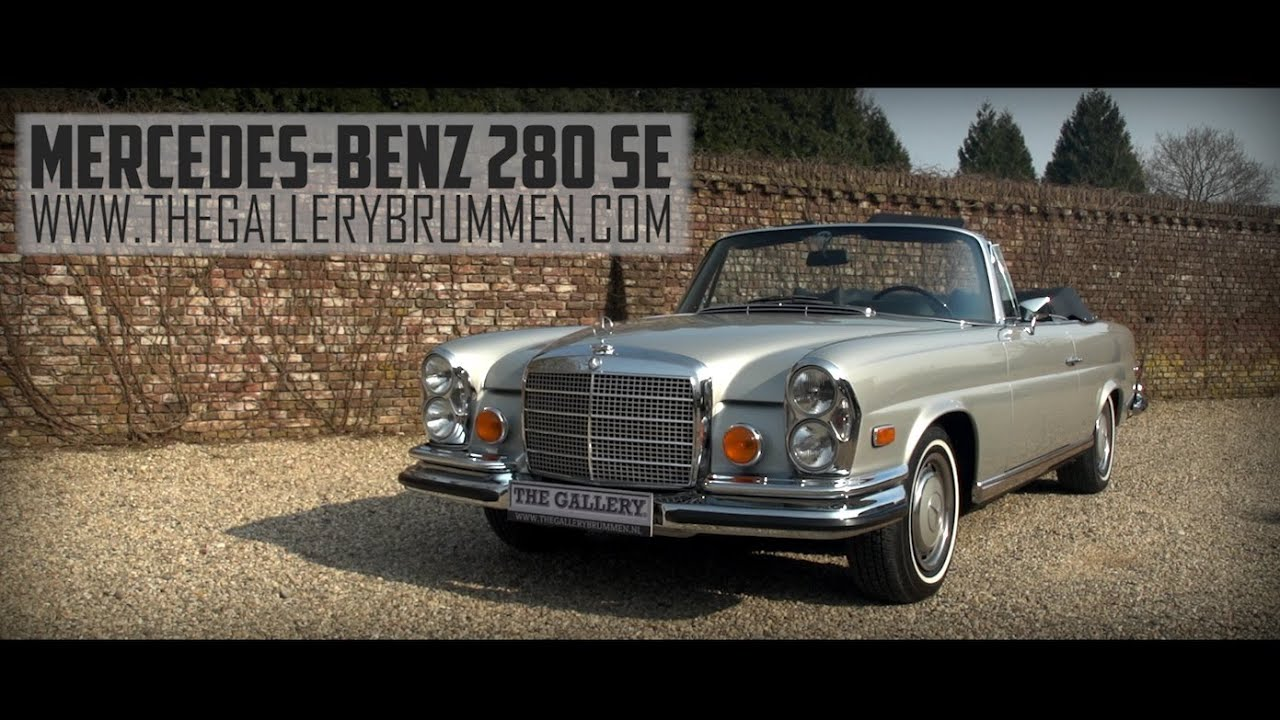 Mercedes For Sale >> MERCEDES-BENZ 280 SE 3.5 W111 CONVERTIBLE 1971 | GALLERY AALDERING TV - YouTube